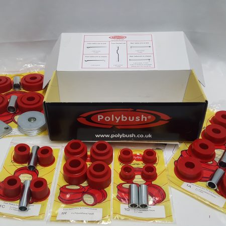 POLYBUSH DEFENDER 90/110 >94 RADIUS ARM/ PANHARD ROD BUSH KIT- KIT 1 (RED)